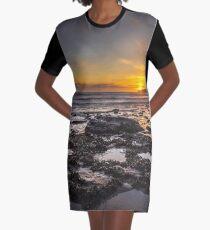 Vestido camiseta Puesta de sol costera