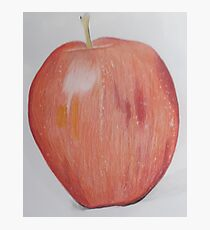 Realistic drawing of an apple Photographic Print