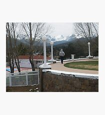 My brother Robert walking the grounds of Stanley Hotel Park Photographic Print