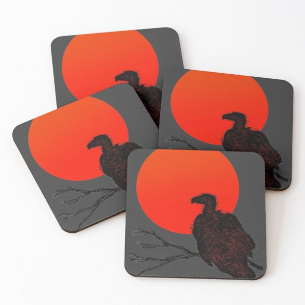 Vulture at Sunset Coasters (Set of 4)