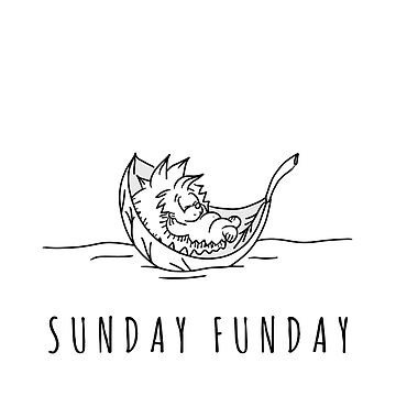 Sunday Funday | Hedgehog Lifestyle | Cute Animal Shirt for Women & Kids by regedy1