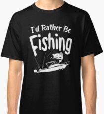 Time Is Precious Fishing T-Shirt - Cool Funny Nerdy Fishing Angler Champion Coach Team Humour Statement Graphic Image Quote Tee Shirt Gift Classic T-Shirt
