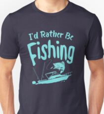 Time Is Precious Fishing T-Shirt - Cool Funny Nerdy Fishing Angler Champion Coach Team Humour Statement Graphic Image Quote Tee Shirt Gift Unisex T-Shirt