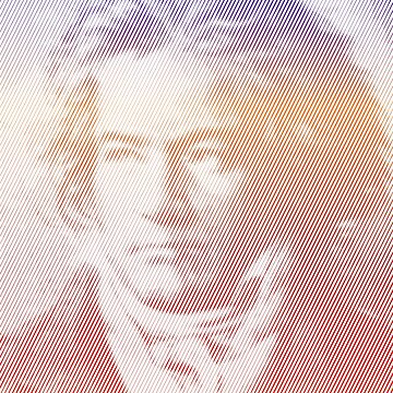 Beethoven Portrait With Gradient Effect by Almdrs