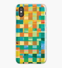 Abstract Sqaures iPhone Case