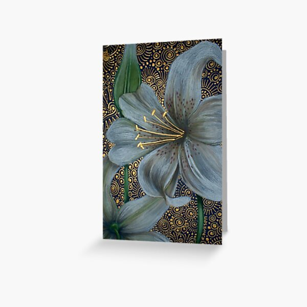 White Tiger Lilies Greeting Card