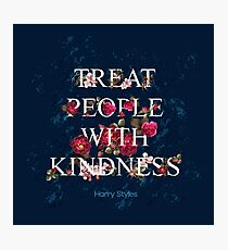 Treat People With Kindness - Harry Styles Photographic Print