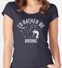 Time Is Precious Birding T-Shirt - Cool Funny Nerdy Bird Spotter Ornithology Ornithologist Humour Statement Graphic Image Quote Tee Shirt Gift Women's Fitted Scoop T-Shirt