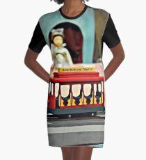 Full Color Neighborhood Trolley - Mr Rogers Neighborhood Graphic T-Shirt Dress