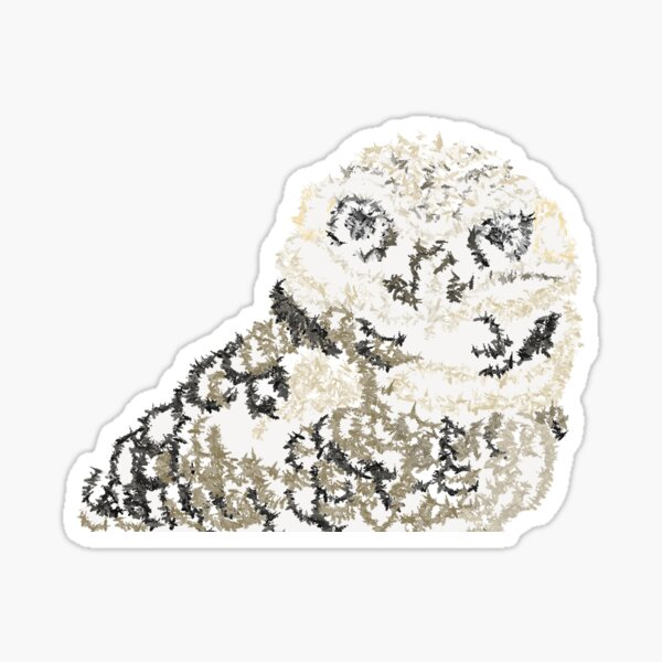 Earth Owl Baby Design by Green Bee Mee Sticker