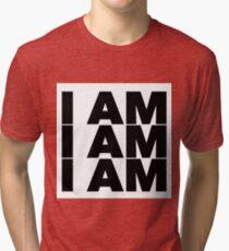 Sylvia Plath quote - I am I am I am OM Tri-blend T-Shirt