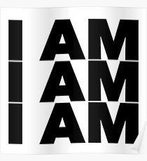 Sylvia Plath quote - I am I am I am OM Poster