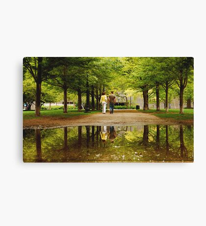 SPRINGTIME REFLECTIONS  (LOVE) Canvas Print