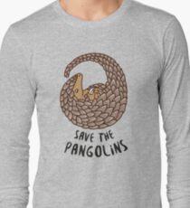 Save the Pangolins - Curled up Pangolin Long Sleeve T-Shirt