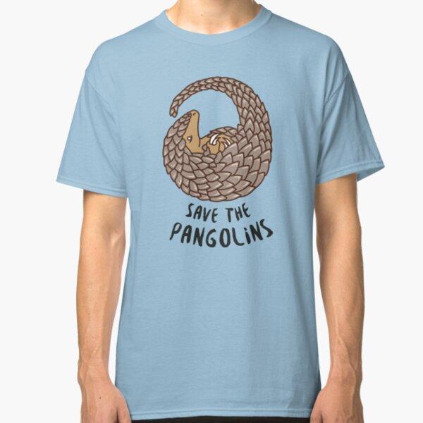Save the Pangolins - Curled up Pangolin Classic T-Shirt