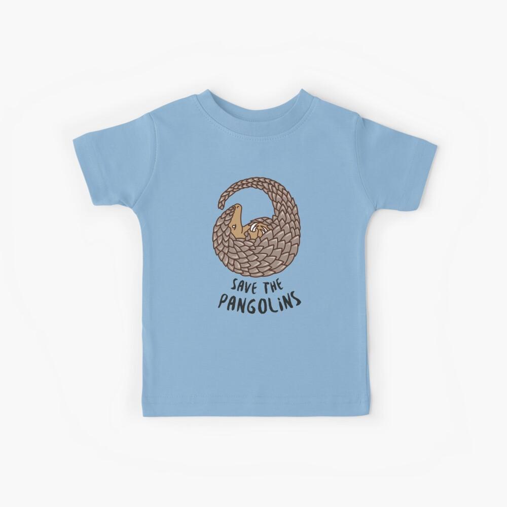 Salvar los pangolines - Pangolín acurrucado Camiseta para niños