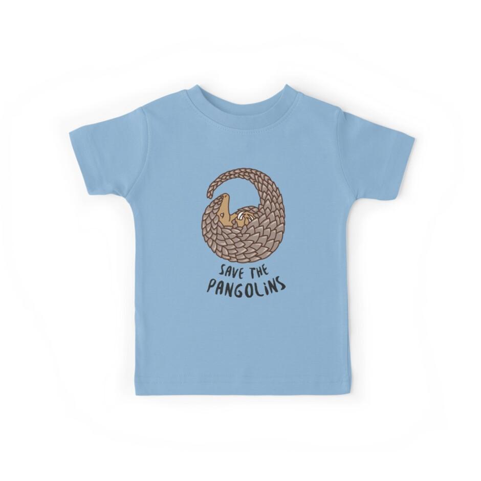 Save the Pangolins - Curled up Pangolin by Bangtees
