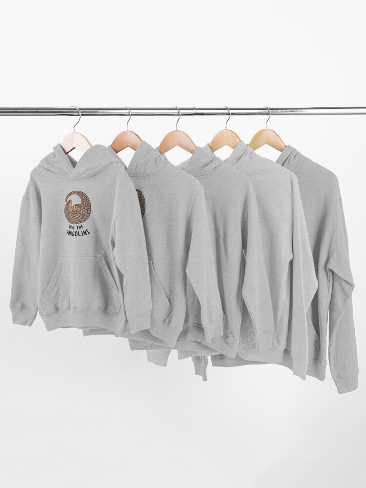 Alternate view of Save the Pangolins - Curled up Pangolin Kids Pullover Hoodie