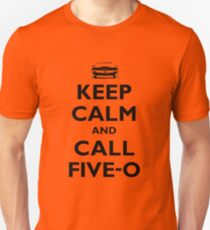 Keep Calm and Call Five-O (Black) Unisex T-Shirt