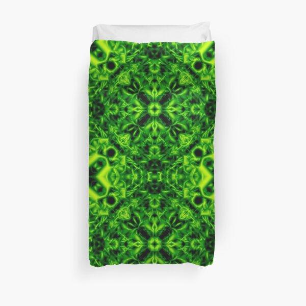 """12. """"Spirit of India: Cross-Column"""": green  Duvet Cover"""