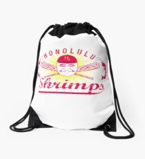 Honolulu Shrimps Baseball Team Logo Drawstring Bag