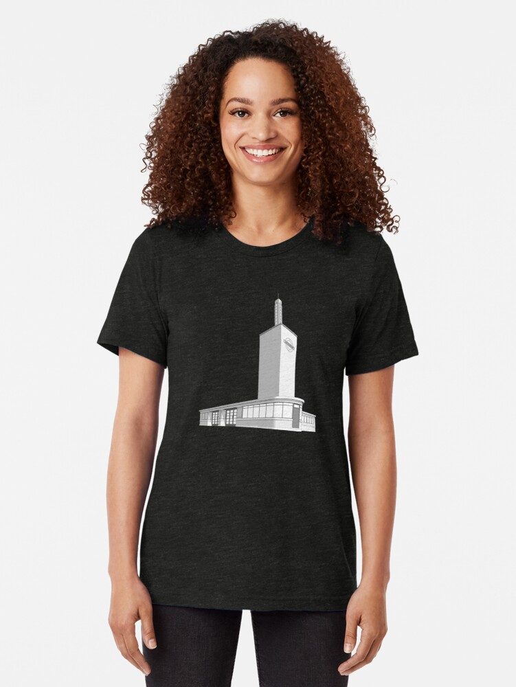 Alternate view of Osterley station Tri-blend T-Shirt