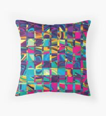 Abstract Sqaures Three Throw Pillow