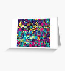 Abstract Sqaures Three Greeting Card