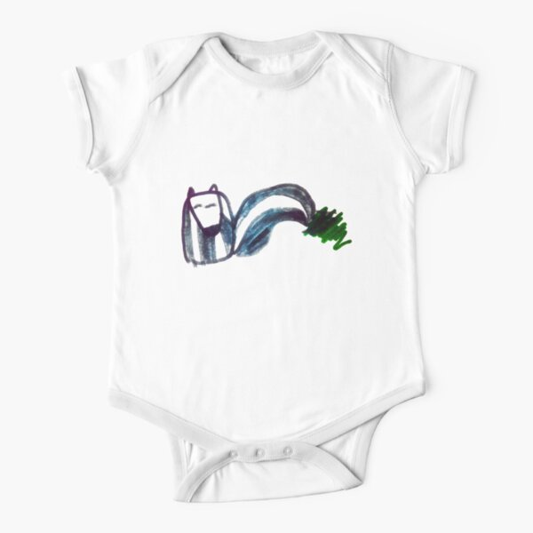The Cutest Of Them All Skunk Short Sleeve Baby One-Piece