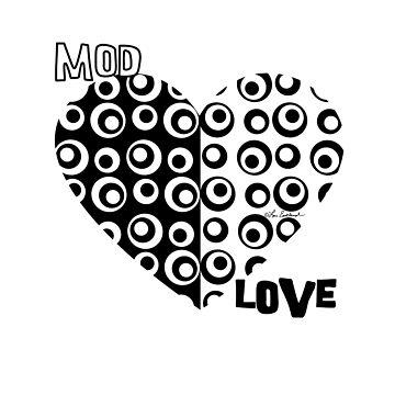 Mod Love Black & White Circles Dots by loeye