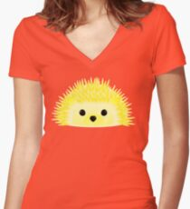 Edgy the Hedgehog Women's Fitted V-Neck T-Shirt