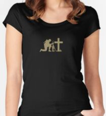 Soldier and the Cross Women's Fitted Scoop T-Shirt