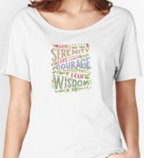 Serenity Prayer Hand Lettered Women's Relaxed Fit T-Shirt