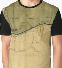 Map Of Tybee Island 1750 Graphic T-Shirt