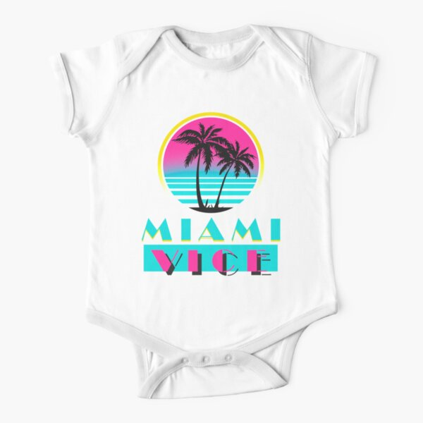 Miami Vice Short Sleeve Baby One-Piece