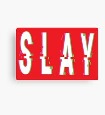 Slay Glitch Words Millennials Use   Canvas Print