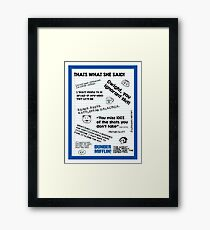 The Office Quotes Framed Print