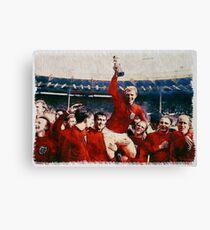 England-Weltmeisterschaft 1966 gewinnende Feier Aquarell Aquarell Leinwanddruck
