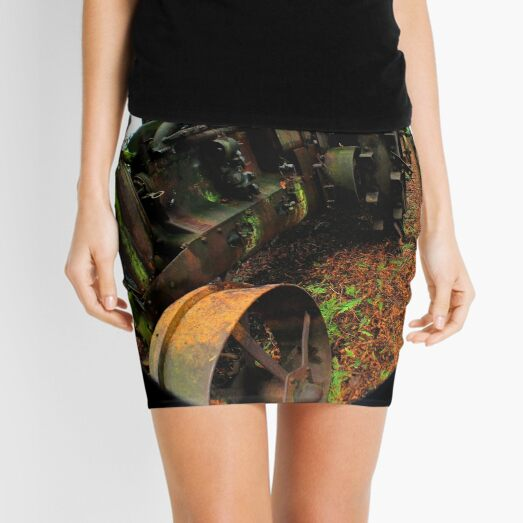 Antique Mossy Tractor Mini Skirt