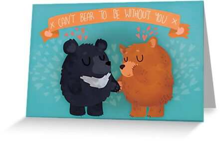 Can't Bear To Be Without You Valentine's Day by Claire Stamper
