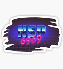 Ninja Sex Party - Retro 6969 Sticker