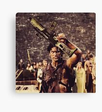 Ash Gets a New Boomstick  Canvas Print