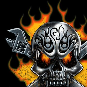 Skull and Crossed Wrench by Kiteboy