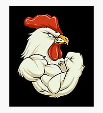 Rooster At The Gym - Workout Fitness Muscles Photographic Print