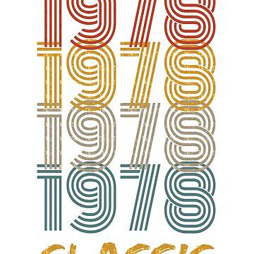 40TH BIRTHDAY GIFT VINTAGE 1978 T-SHIRT by samlozano