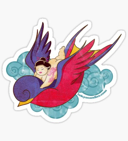Ride the swallow Sticker