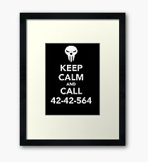Keep calm and call 42-42-564 Call the Shinigami Framed Print