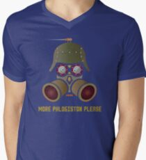 More Phlogistan Please Funny Steampunk Science Physics T-shirts and Gifts Men's V-Neck T-Shirt