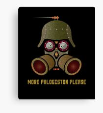 More Phlogistan Please Funny Steampunk Science Physics T-shirts and Gifts Canvas Print