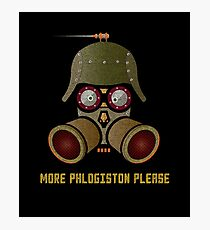 More Phlogistan Please Funny Steampunk Science Physics T-shirts and Gifts Photographic Print